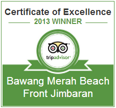 Bwang Merah Beachfront Restaurant certificate of excellence
