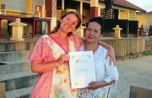Christa Lut and Indri Artini Arta