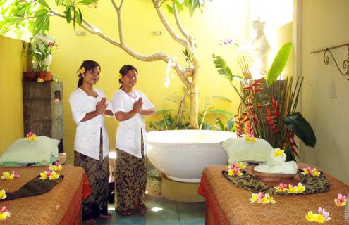 Bali massage room