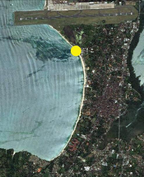 Jimbaran Bay Satellite View