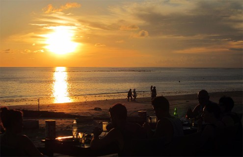 Sunset dinner in Jimbaran