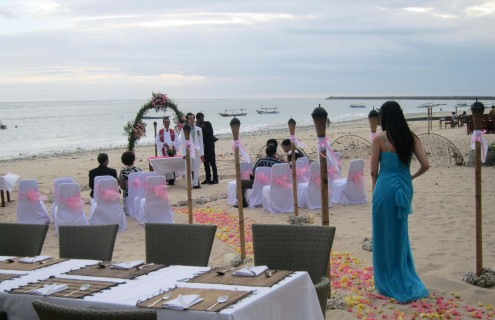 Commitment ceremony in Bali