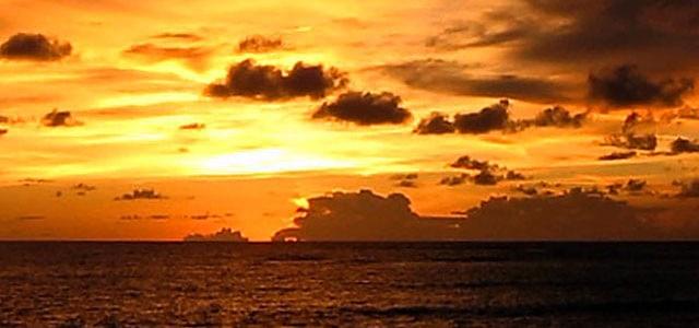 Sunset at 18:06