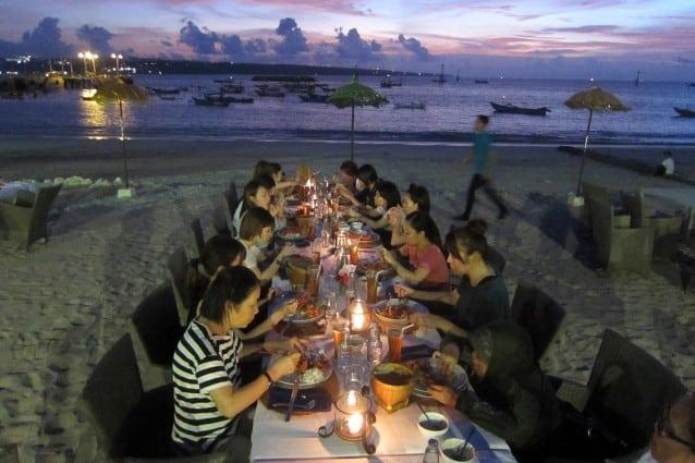 sunset dinner ryubi school