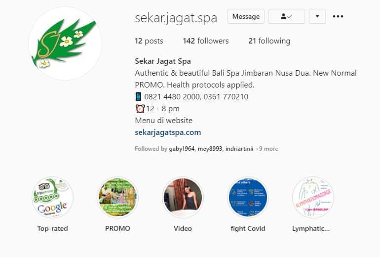 Instagram Bali Spa Jimbaran